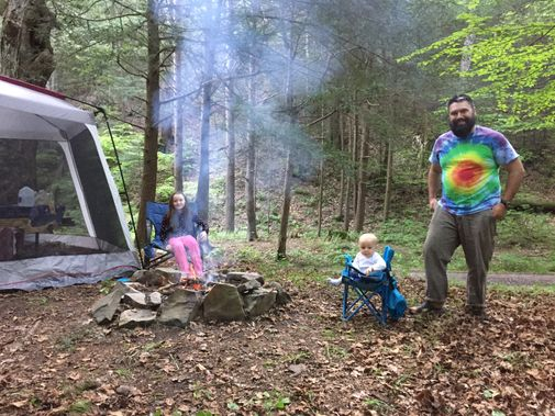 Camping at New Germany State Park