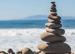 A zen stack of rocks