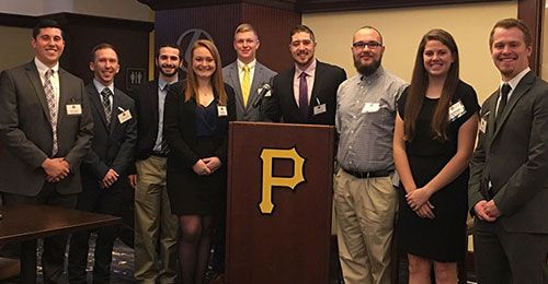 Students touring Pittsburgh Pirates facilities