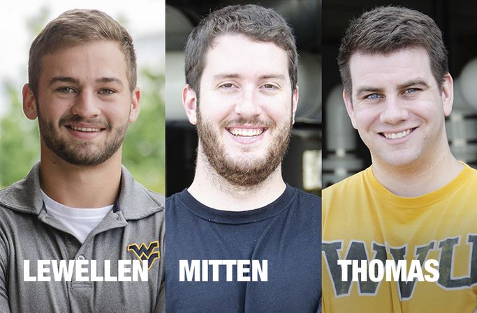 Head shots of Jacob Lewellen, Chris Mitten, and John Thomas.