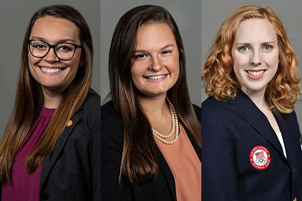 WVU students Emma Harrison, Andrea Pettit and Ginny Thrasher are finalists for the Rhodes Scholarship.