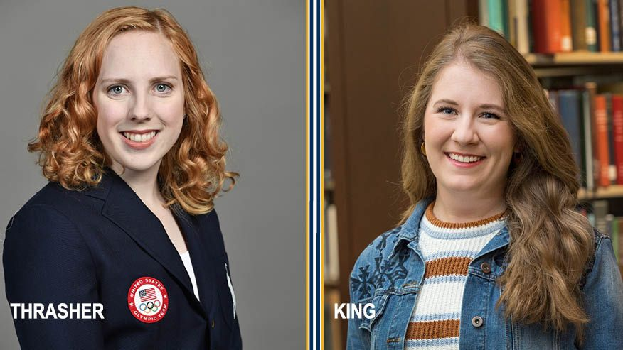 Photos of Ginny Thrasher and Morgan King.