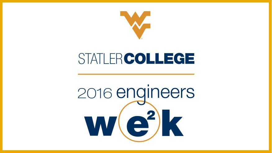 The 2016 logo for Engineers Week at the Benjamin M Statler College of Engineering and Mineral Resources