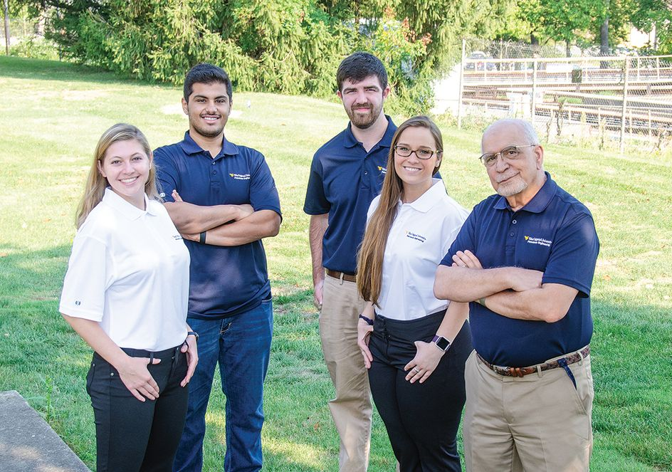 WVU SPE student chapter officers from l-r: Morgan Measures, Saleh Alateeqi, Josh Dietz, Ashley Konya, and Sam Ameri, faculty advisor.