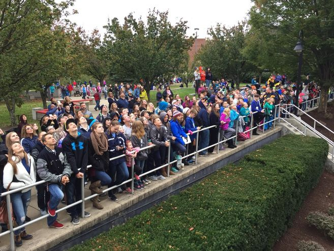 Photo of Spectators at Pumpkin Drop