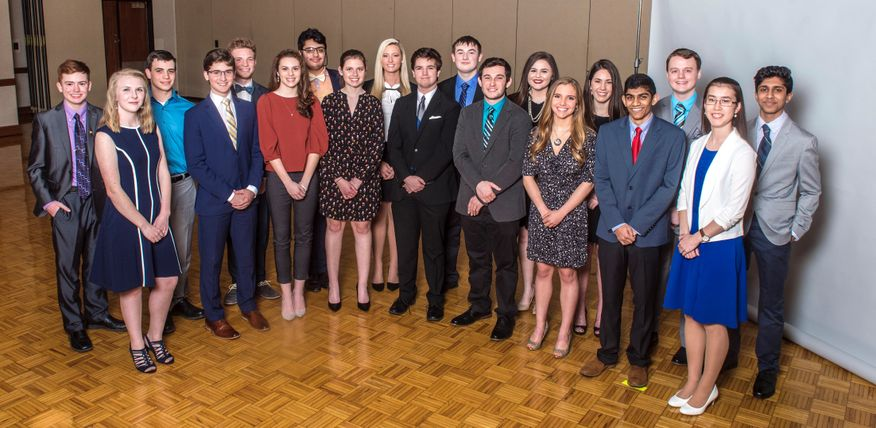 A photo of 2018 Bucklew Scholars.