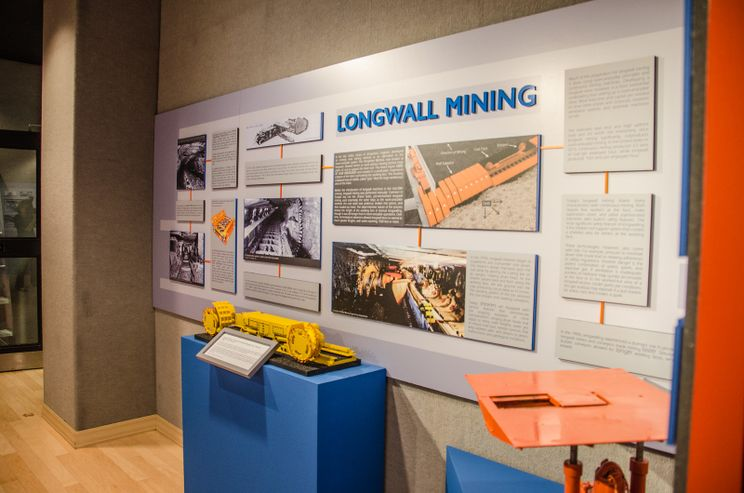 A photo of an exhibit in the Watts Museum.