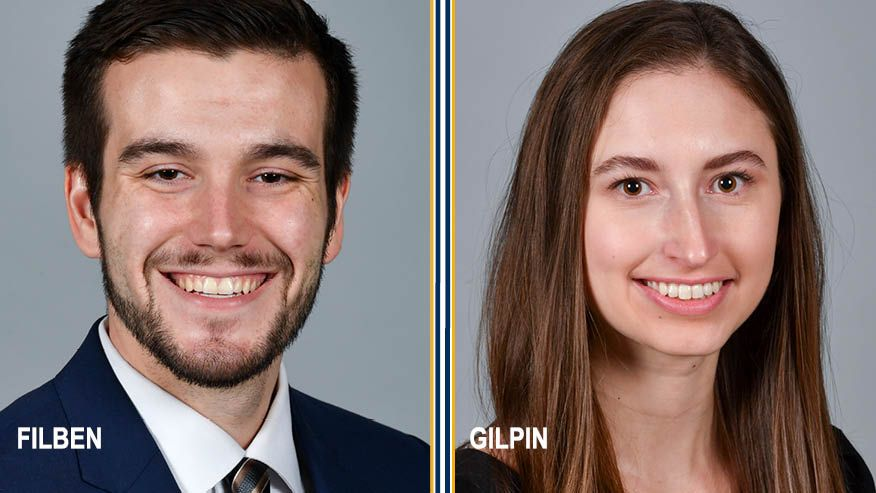 Photos of Tanner Filben and Anna Gilpin