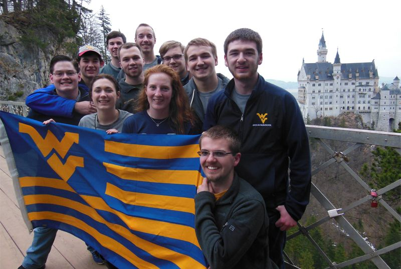 An image of Statler Engineering Students at Neuschwanstein