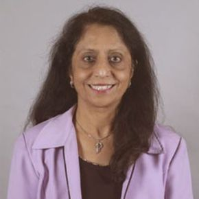 A portrait of Sumitra Reddy
