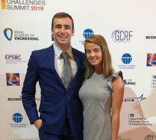 Billy Fox and Karoline Edmonds at the Global Grand Challenges Summit in London, England.