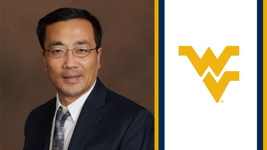 A portrait of John Hu next to the flying WV