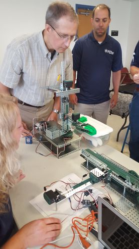 A photo of teachers attending PLTW training
