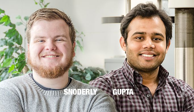 Headshot of WVU engineering students Hunter Snoderly and Neel Gupta.