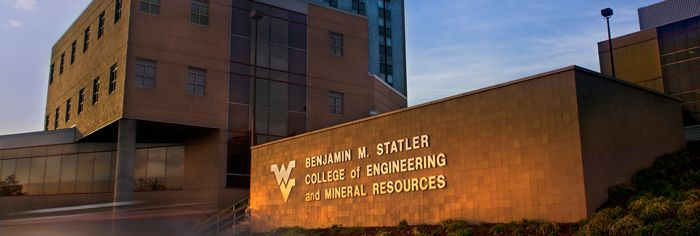 Benjamin M. Statler College of Engineering and Mineral Resources Sign at  College Entrance