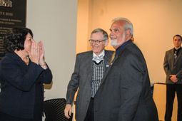 Photo of Provost McConnell, Pres. Gee and Dean Cilento