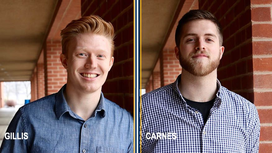 Photos of Kyle Gillis and James Carnes