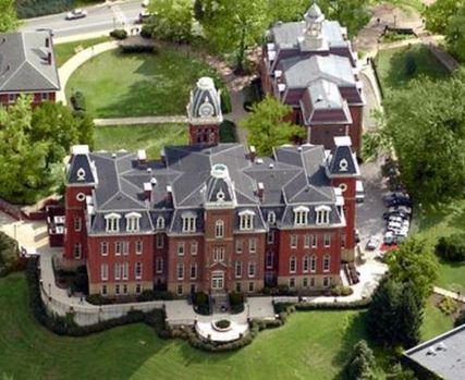 Aerial shot of woodburn