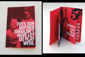 printed booklet about dangerous toys