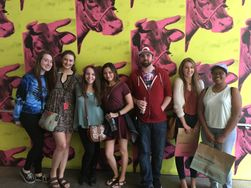 Students at the Andy Warhol Museum