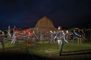 Light Painting in Jackson Hole