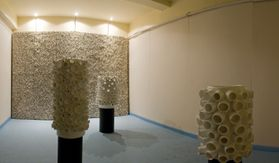 textured ceramic installations