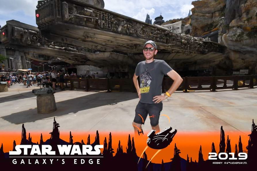 Eric Myers at the Star Wars area in Disney World.