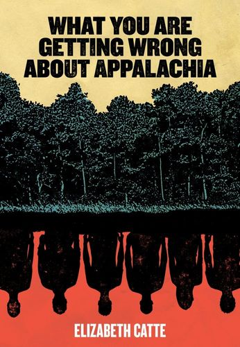 What You Are Getting Wrong About Appalachia book cover: a print of trees along a water bank, with people reflected in the water below. The water is red.