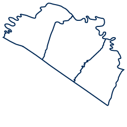 An image depicting the shape of the Eastern Panhandle region.