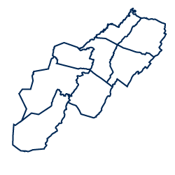 An image depicting the shape of the Potomac Highlands region.
