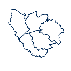 An image depicting the shape of the Southwestern Mountain region.