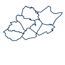 An image depicting the shape of the New River / Greenbrier Valley region.