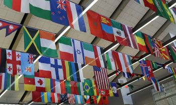 Flags in the Mountainlair