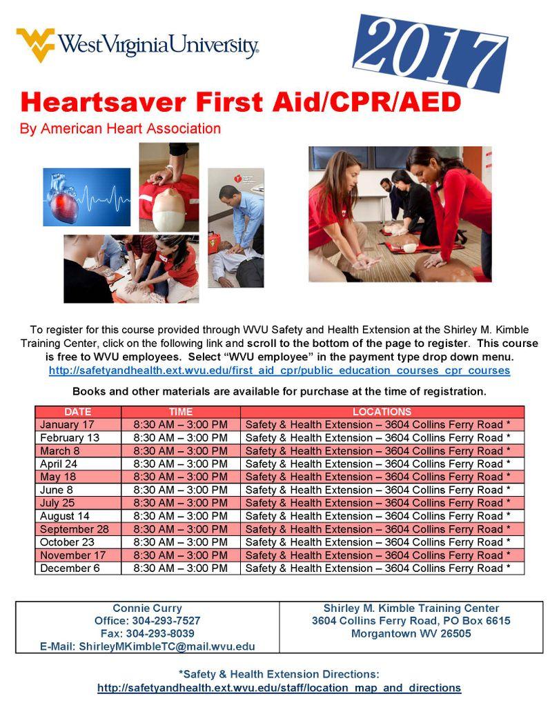 First aidcpraed monthly schedule environmental health safety cpr xflitez Gallery