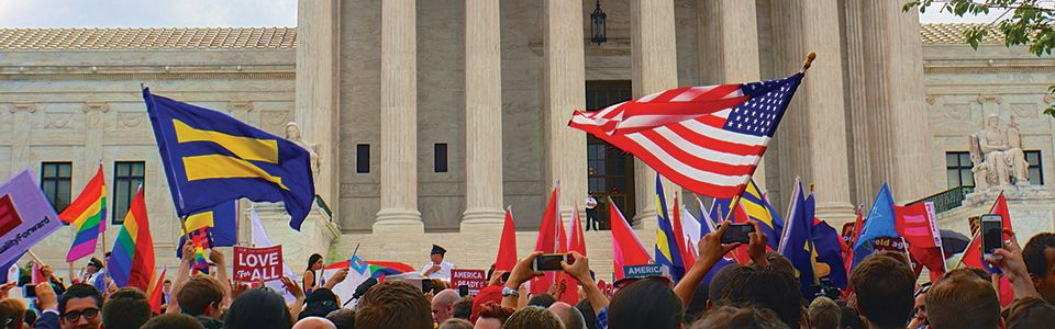U.S. Supreme Court marriage equality crowd