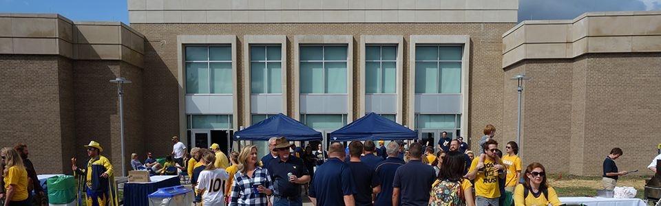 WVU Law Event Hall Courtyard homecoming tailgate