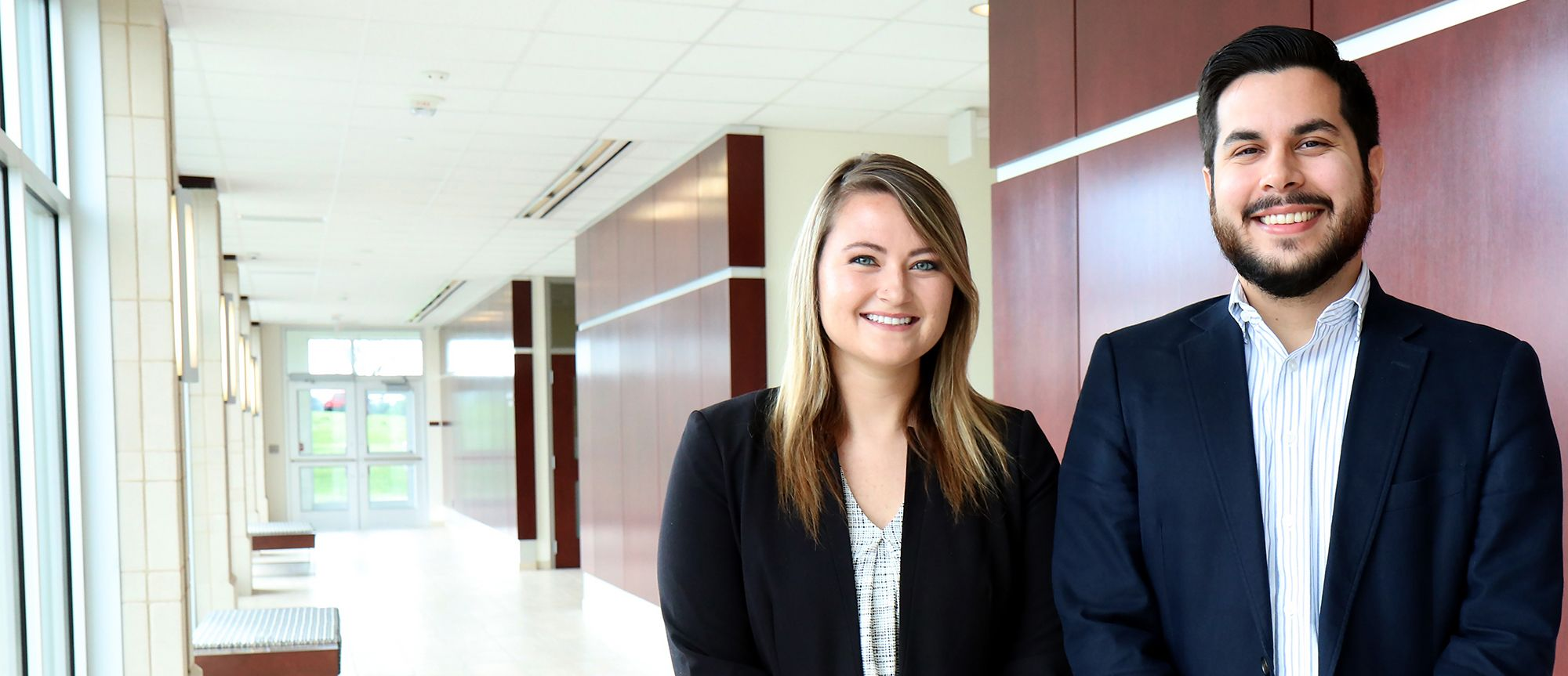 WVU Law 2018 Google interns MacKenzie Milam and Jeremy Cook