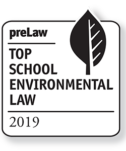 WVU Law - 2019 Top Environmental Law School Badge