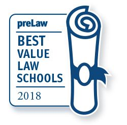 WVU Law preLaw 2018-19 Best Value badge