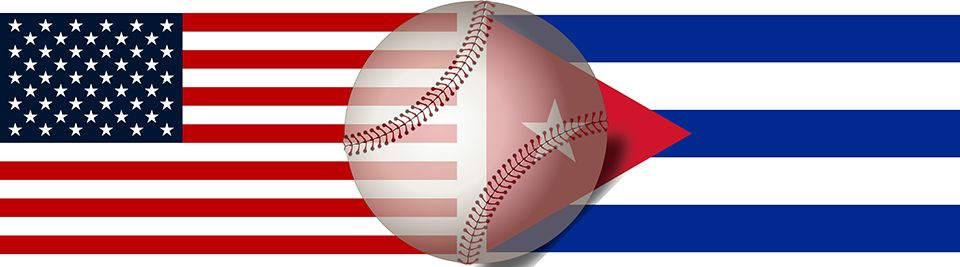 WVU Law - US-Cuba flags and baseball