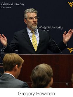WVU Law Dean Gregory Bowman