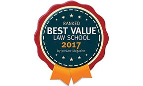 WVU Law - preLaw Best Value badge 2017