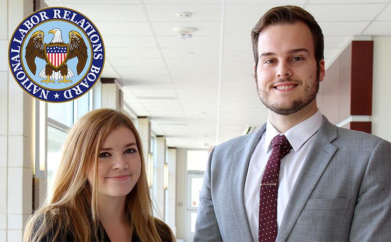 WVU Law students Jamie Crestfield and Christian Wilson