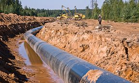 WVU Law gas pipeline stock photo