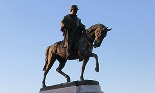 WVU Law statue of General Beauregard in New Orleans