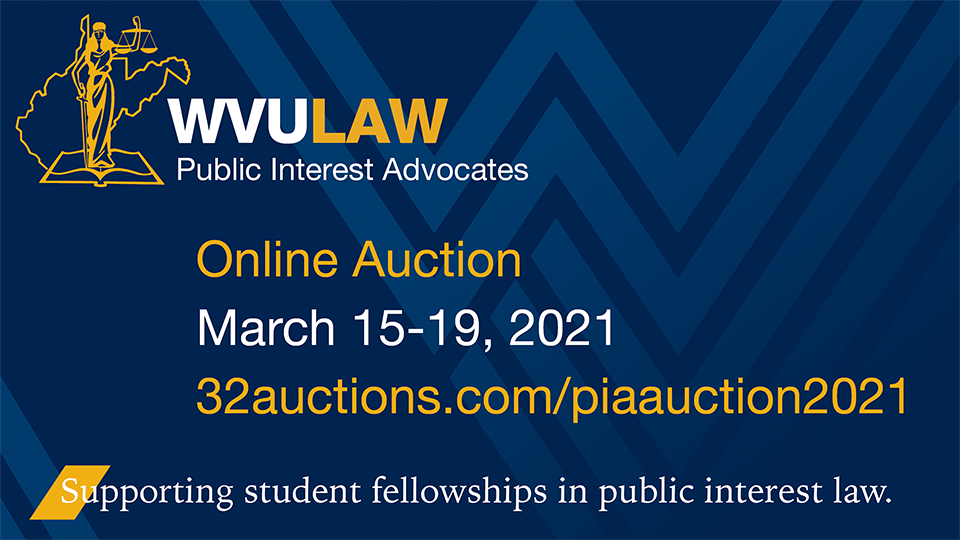 WVU Law Spring 2021 PIA Auction