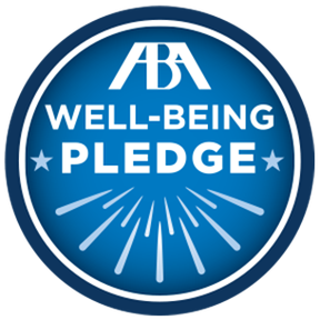 WVU Law ABA Well-Being Pledge logo