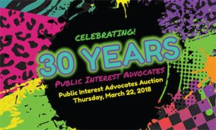 WVU Law 30th Anniversary PIA Auction Postcard