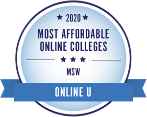 2020 Most Affordable Online Colleges MSW Online U badge