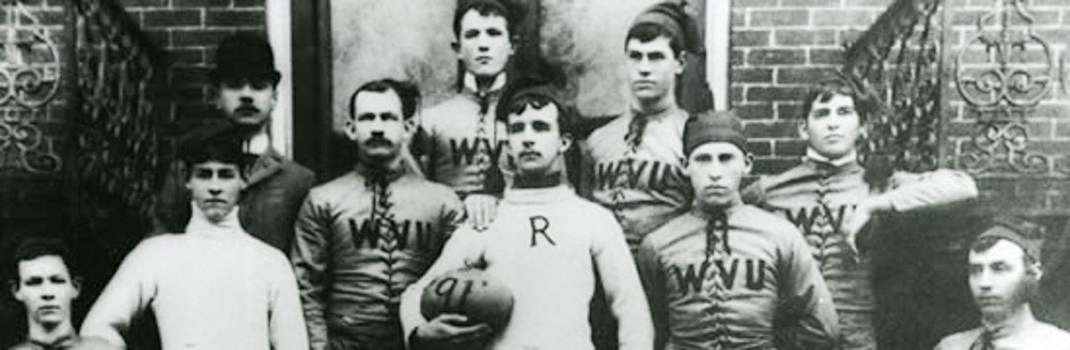 Members of WVU's first football team (1981)